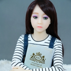 SEXDO 128CM Little Girl Flat Chest Cute Real Like Sex Doll Jazlyn