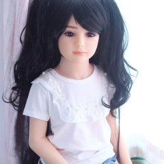 SEXDO 100CM Little Children Girl Flat Chest Cute Real Sex Doll Elaina