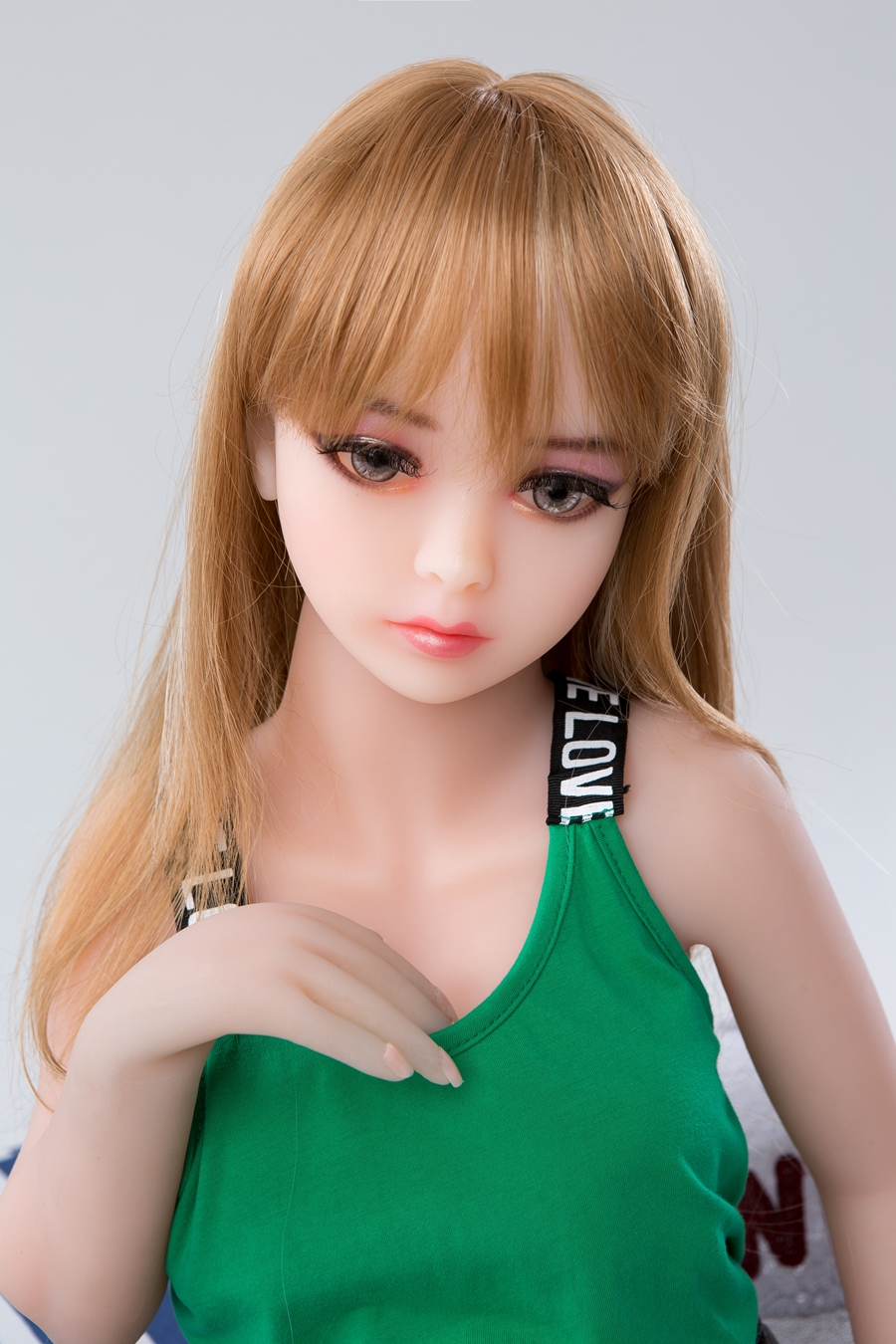 SEXDO 100CM Little Girl Sex Doll With Long Pink Hair