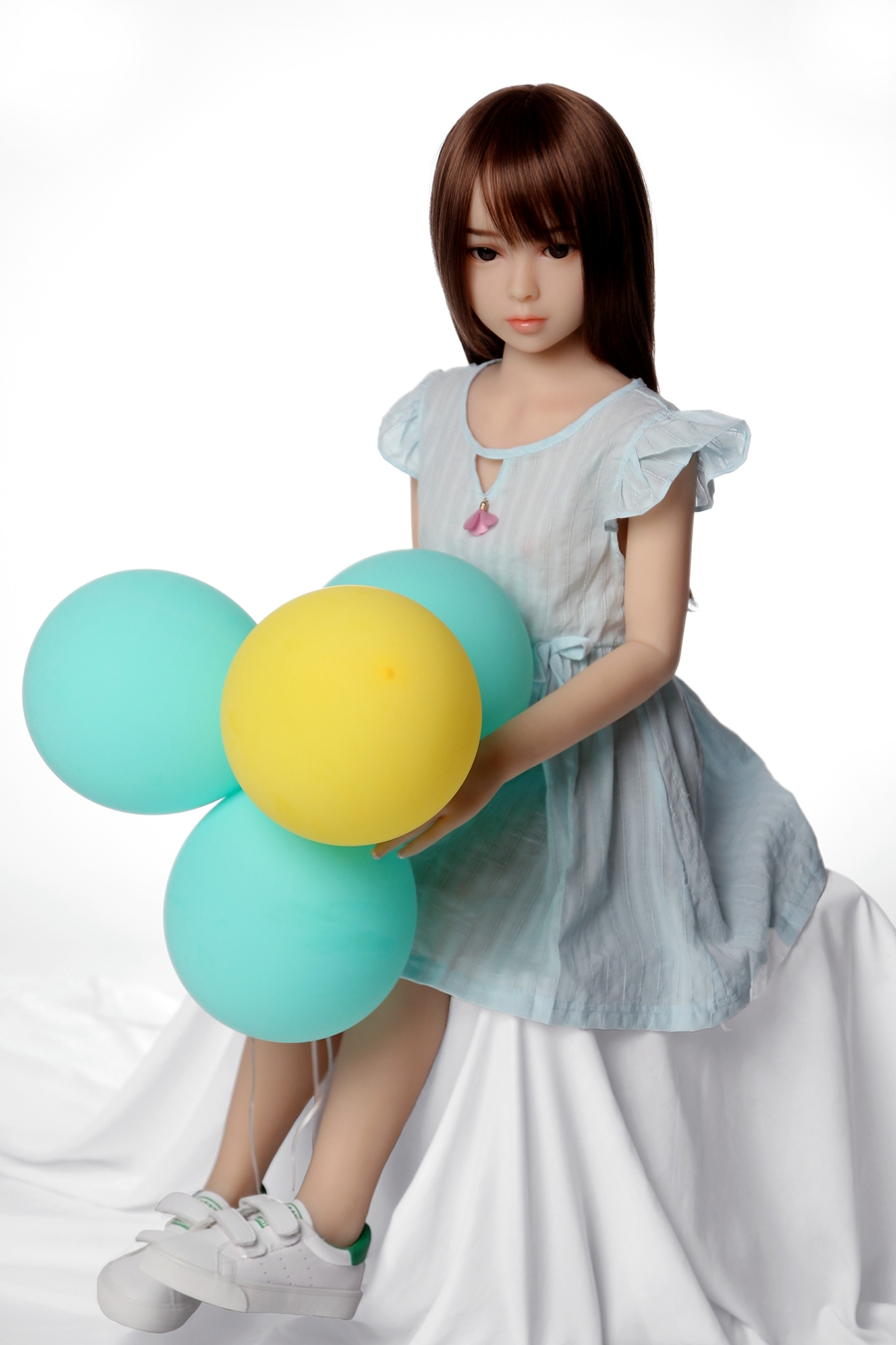 SEXDO New 100CM Flat Chest Sex Doll Little Girl Love Doll Cute